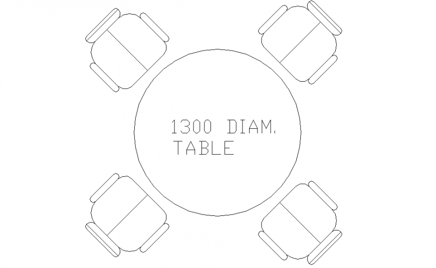 1300 DIA Dining Table Block Design