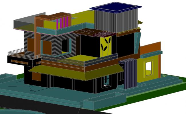 3d  Ultra modern house