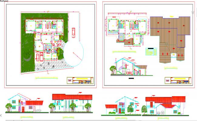 Duplex House plan detail