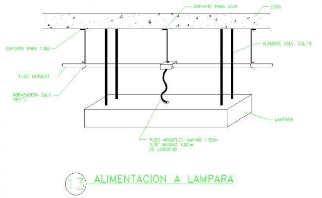 Electric Lamp Detail