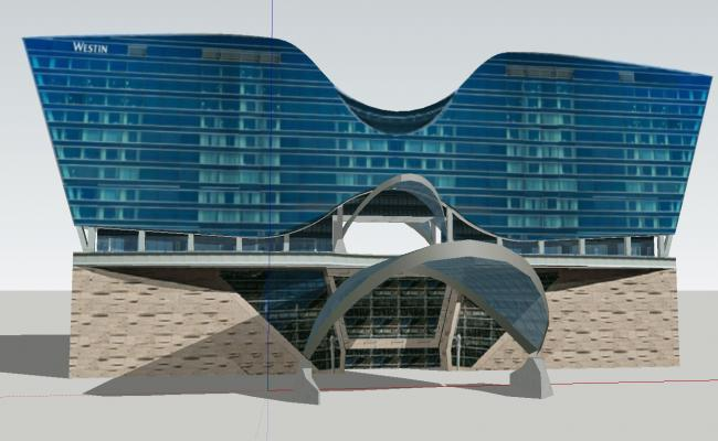3d modern Hotel design