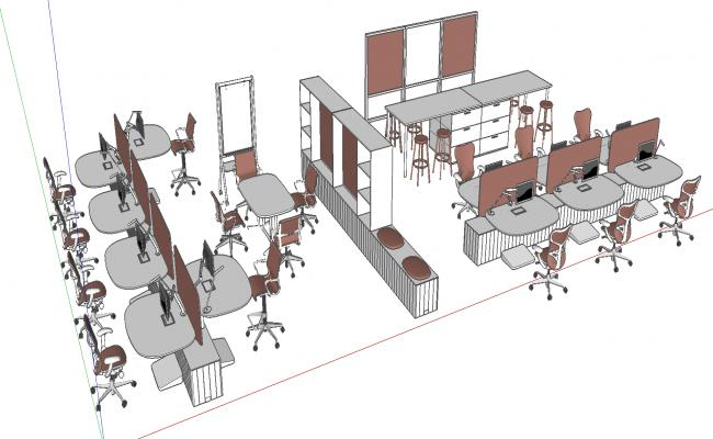 3d office details