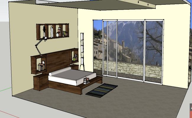 3d bedroom furniture details
