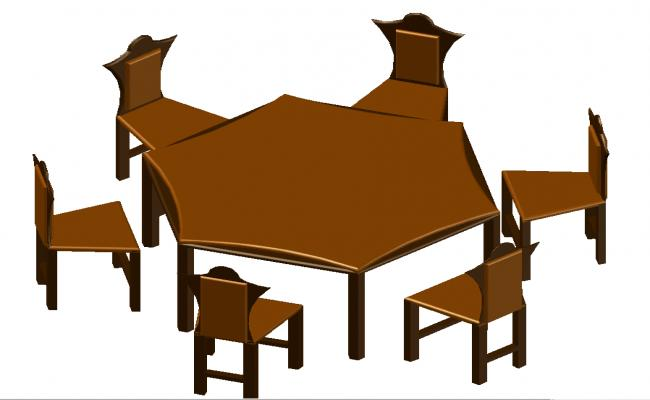 3d dining table design