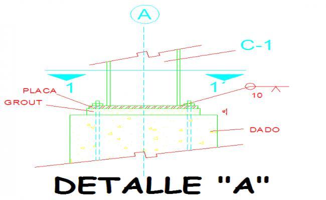 Foundation steel column