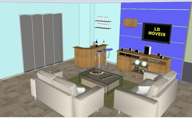 Living room 3d bar