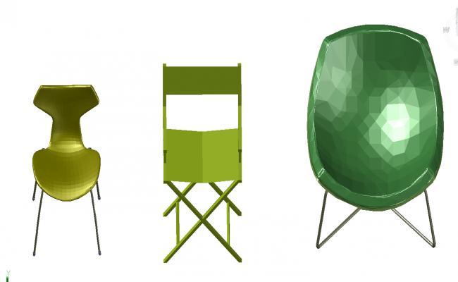 3d Modern chair details