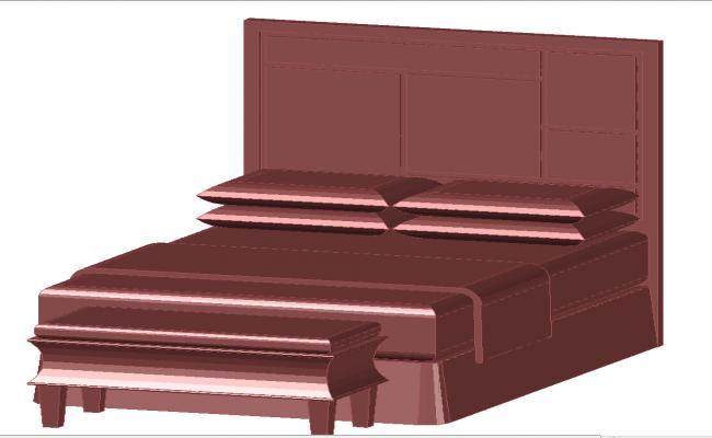 3d double bed design