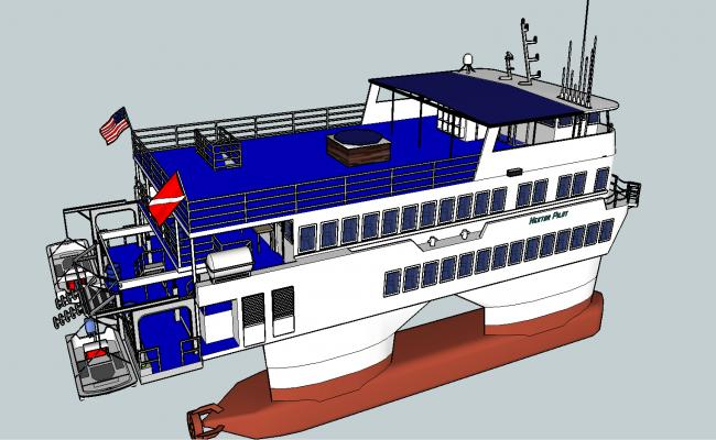 Modern ship details