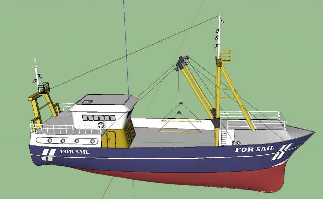 Boat details 3d