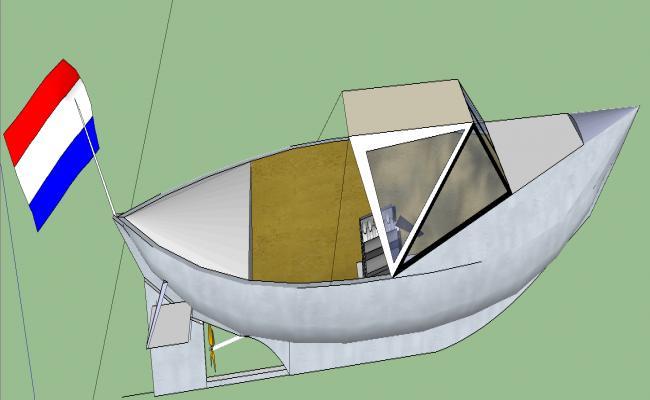 3d Motorboat details