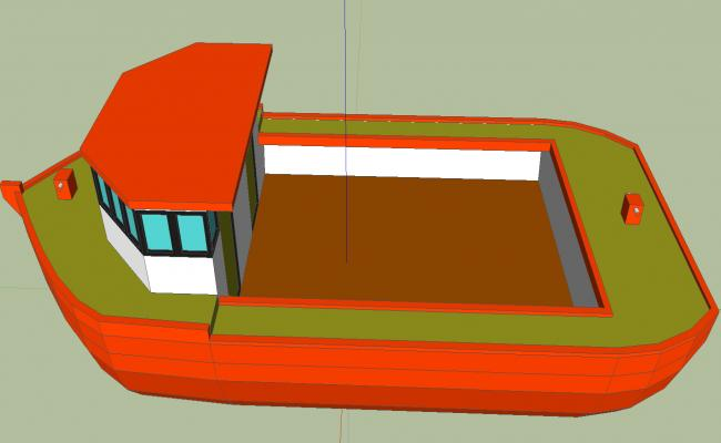 3d modern boat details