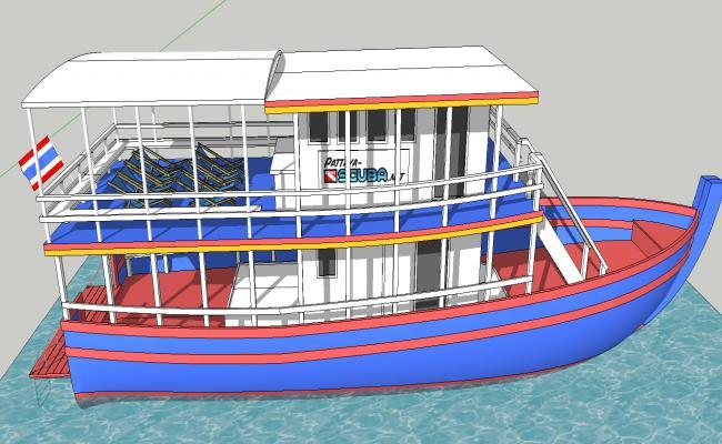 3d Modern Boat
