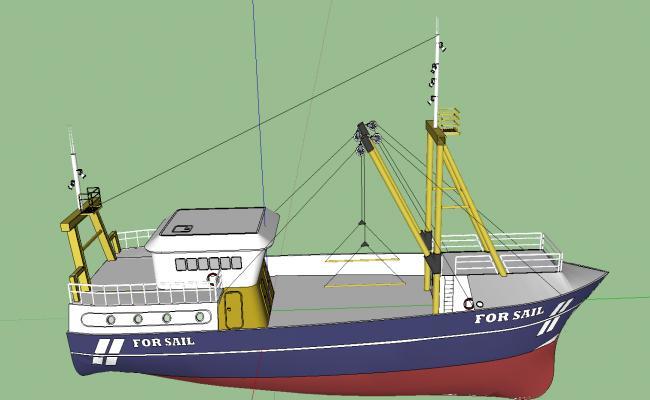 3d boat details