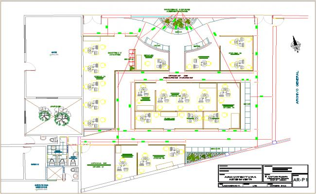 Bank office layout plan