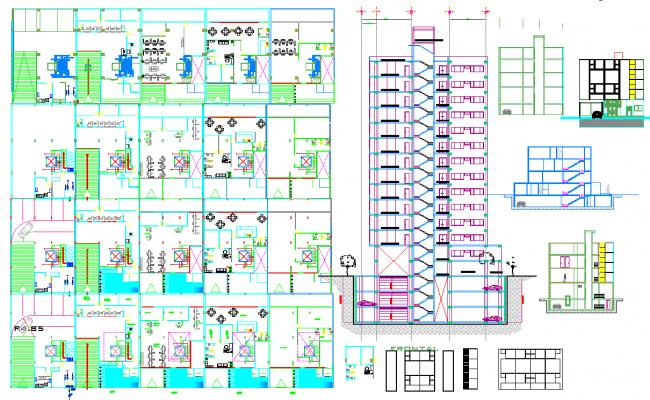 Bank office Building layout plan