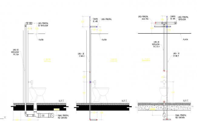 Toilette beam details