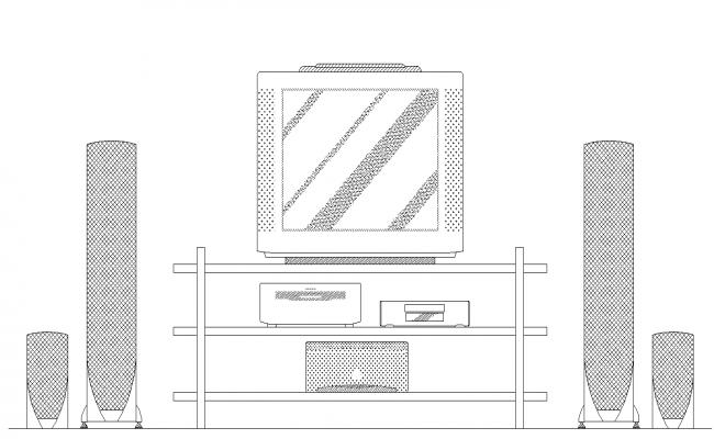 Living room T.V design