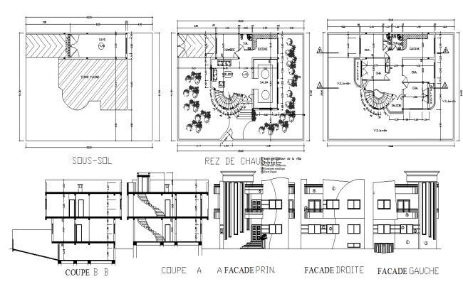 Villa elevation design