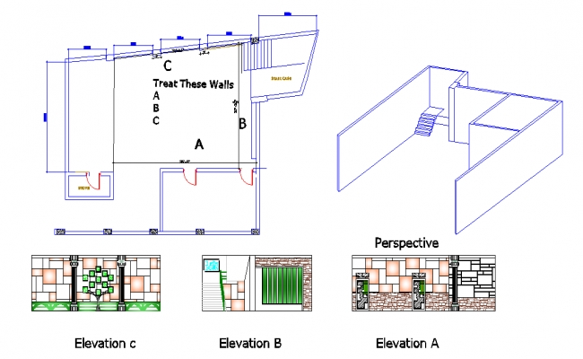 room interior design elevation muhyuddin usa uni odf south asia lahore pakistan b-18073 5th semester