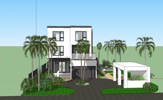 3d Modern House design