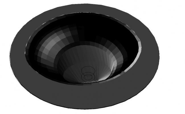 3D Round Basin Block