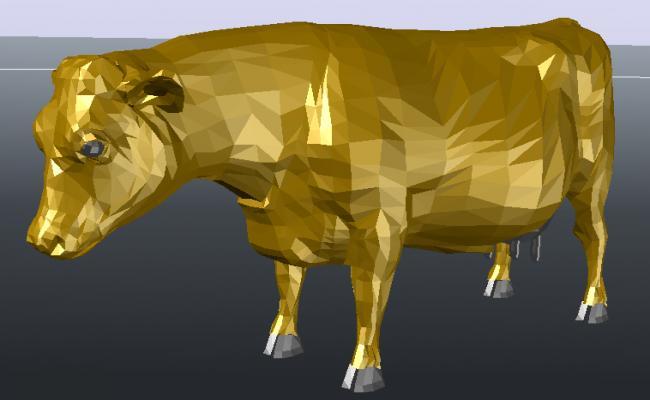 3D Cow Block