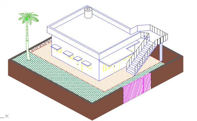 Single 3D House