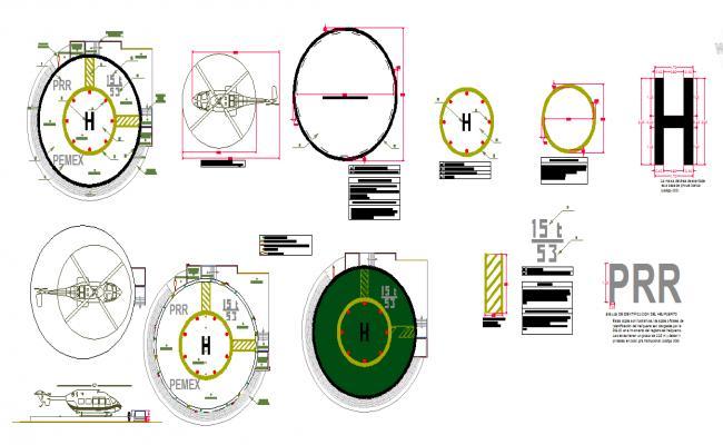 Helicopter station design