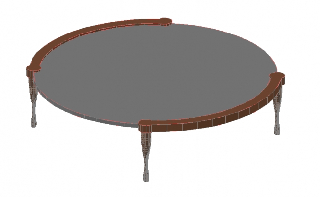 3d Round table details