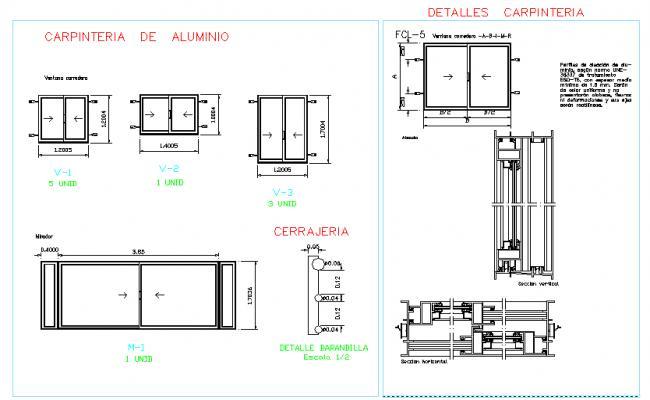 Carpentry of aluminium Frame
