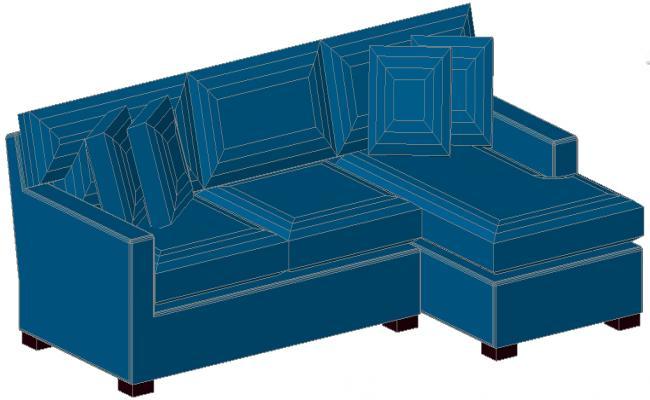 Square sofa design