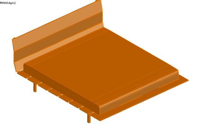 wooden strip Bed design