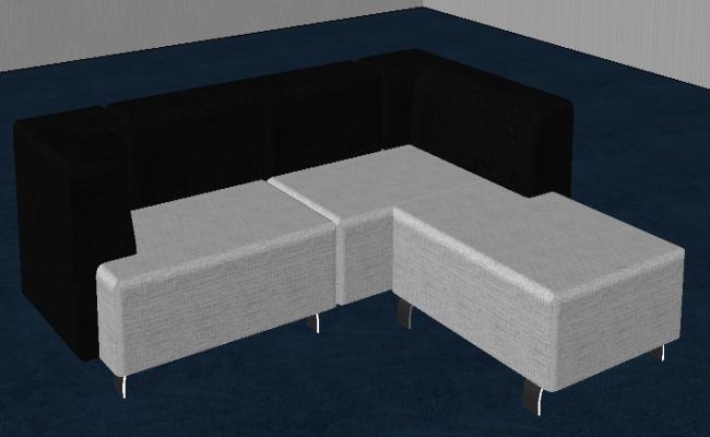 Black and White Sofa Design
