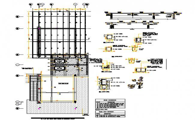 Ground floor beam details