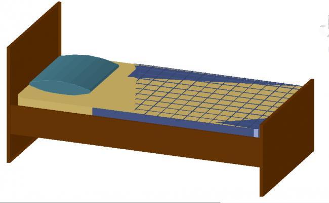 3D single Bed design