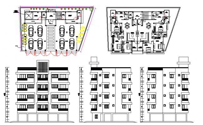 Residential Modern House Building