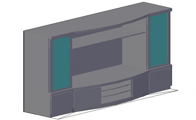 3D House T.V. Unit