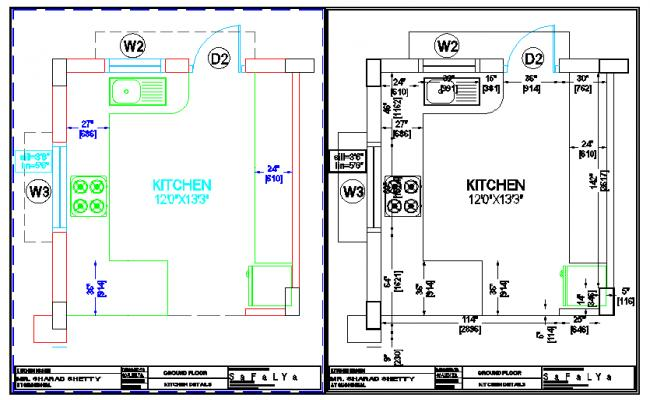 simple kitchen lay-out