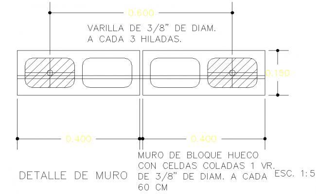 Rainforcement Block wall detail