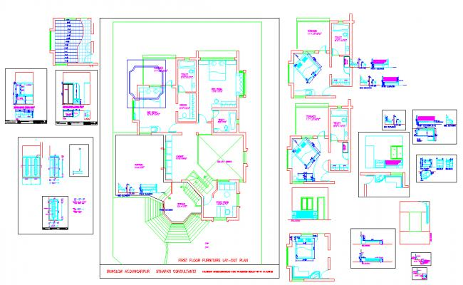 First Floor Lay-out Design.