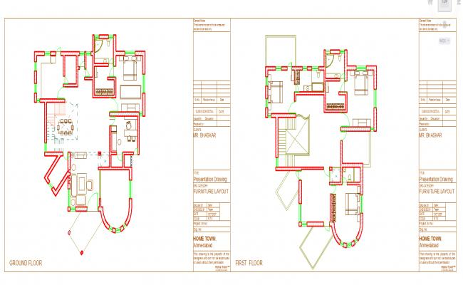 Duplex House Lay-out Design
