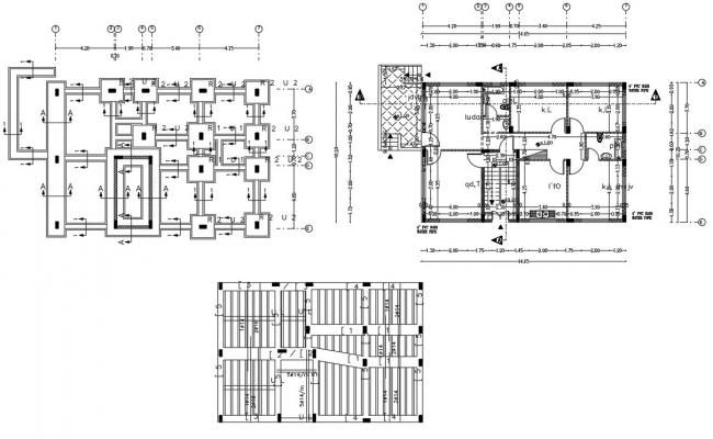 1500 SQFT Plot Size House Construction Plan DWG File