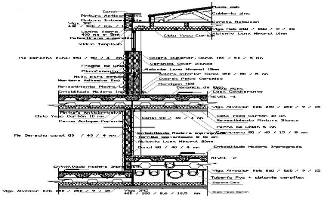 Metal Slab Structure Detail