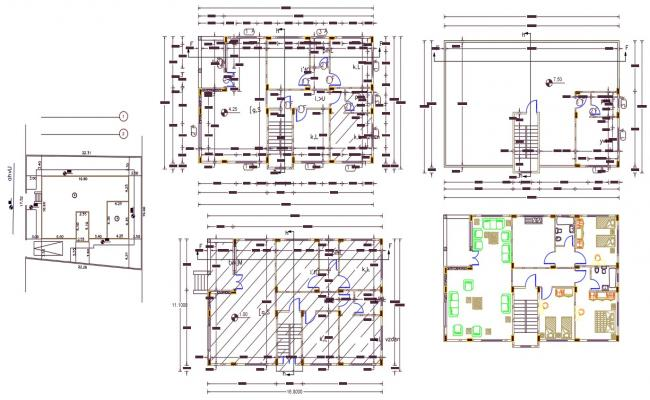 160 Meter 3 BHK House Building Design AutoCAD File