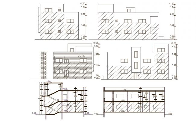 160 Square Meter House Building Design DWG File