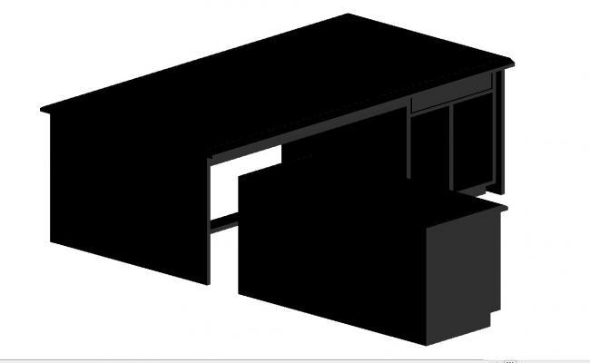 3D Desk table block
