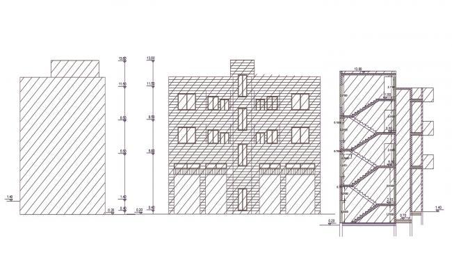 170 Square Meter 2 BHK Apartment Building Design
