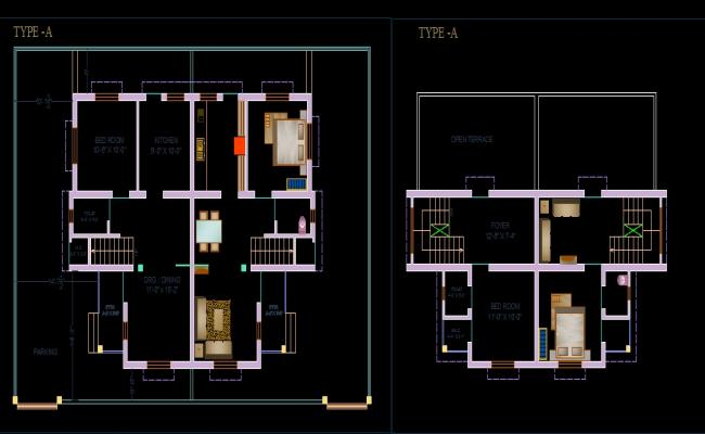 Layout plan of Twin House