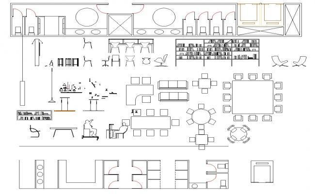 2D Furniture Block Detail